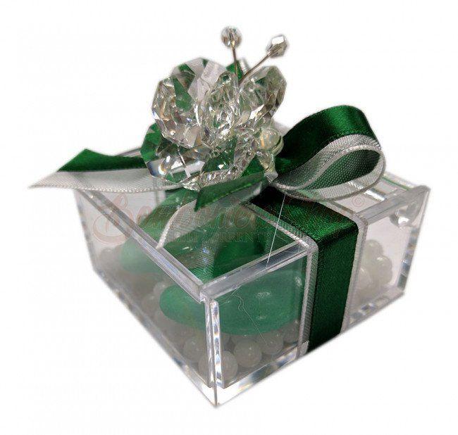 Bomboniere Per Anniversario Di Matrimonio 40 Anni.Bomboniera Anniversario Matrimonio Nozze Di Smeraldo Farfalla