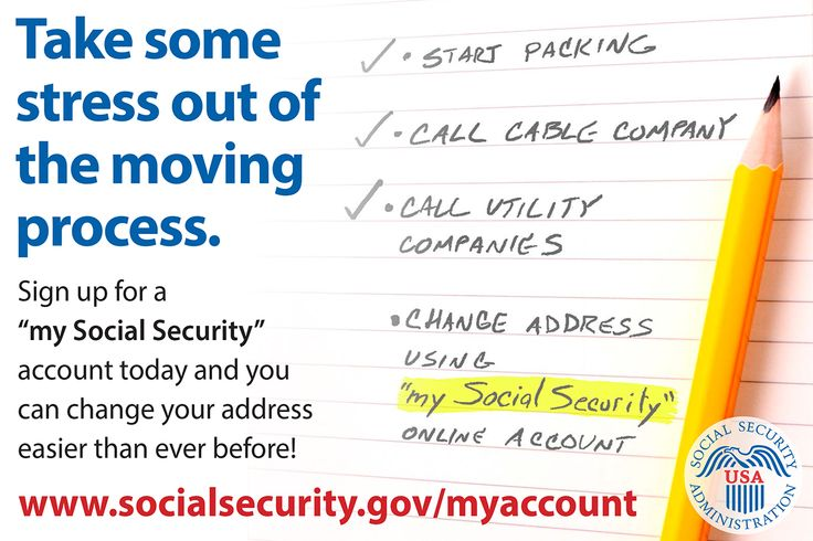 Getting benefits and moving soon? Change your address online with - Social Security Change Of Address