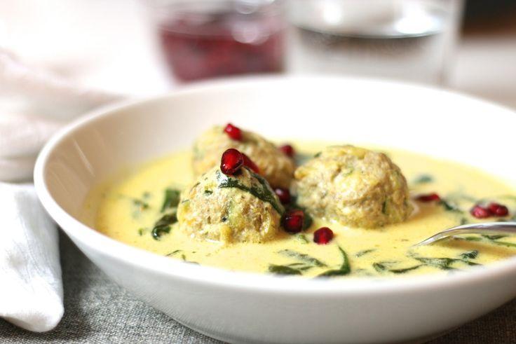 Lammfrikadeller i mild saffranssoppa med spenat - Uplifting - allt om god mat - recept, tips, restauranger, dryck