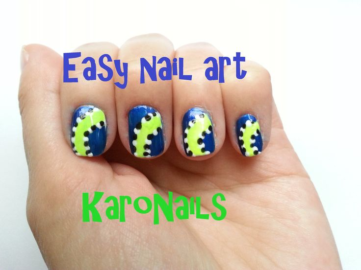 Easy sport nail art for beginners by KaroNails