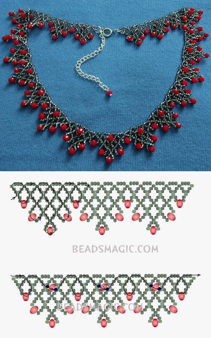 Best Seed Bead Jewelry  2017  Free pattern for necklace Sorbo seed beads 11/0 rondelle crystals  fánk gyöng