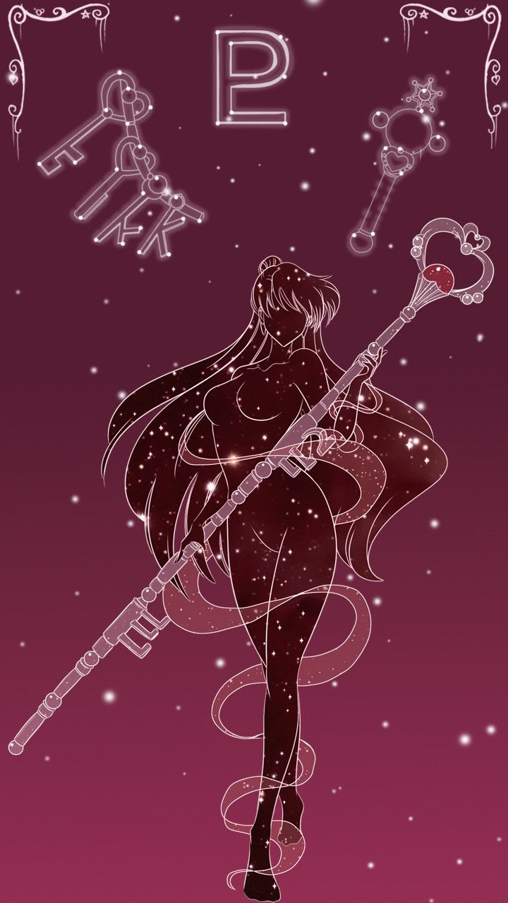 Sailor Pluto Lockscreen, Sarah Meadows on ArtStation at https://www.artstation.com/artwork/8yBJR