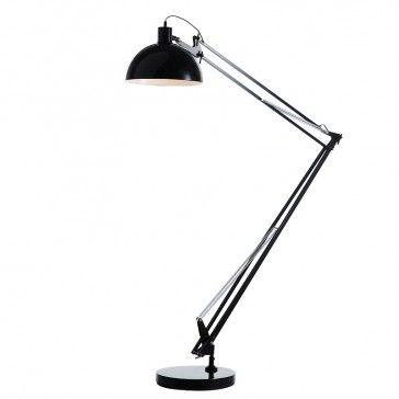 Giant George Carwardine Style Anglepoise Floor Lamp in Black