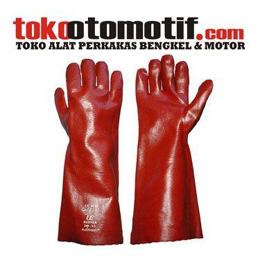 "Kode : 55003000712 Nama : Sarung Tangan Safety Merk : PVC Tipe : 14"" Status :  Siap Berat Kirim : 1 kg"