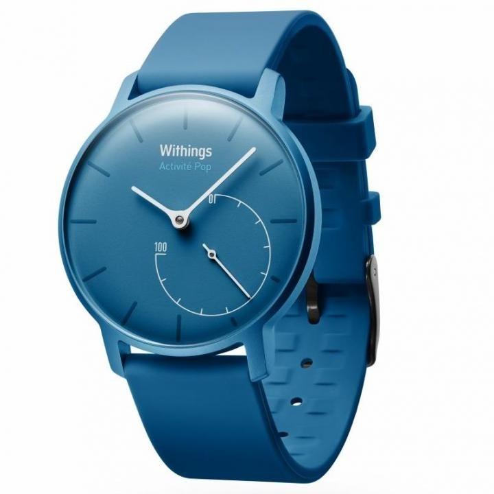 【8月中旬】活動量計機能搭載 防水スマートウォッチ Withings Activite Pop ブルー