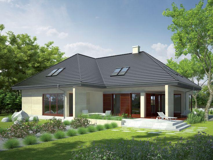 Ogromnym atutem domu jest wygodna strefa dzienna - komfortowy salon z kominkiem, jadalnia oraz kuchnia.