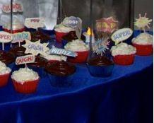 Geek wedding cupcakes