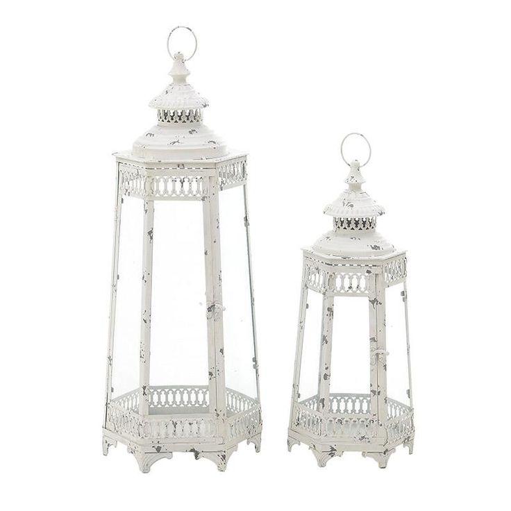 Metallic Lantern Set Of 2 Pieces - Lanterns - DECORATIONS - inart