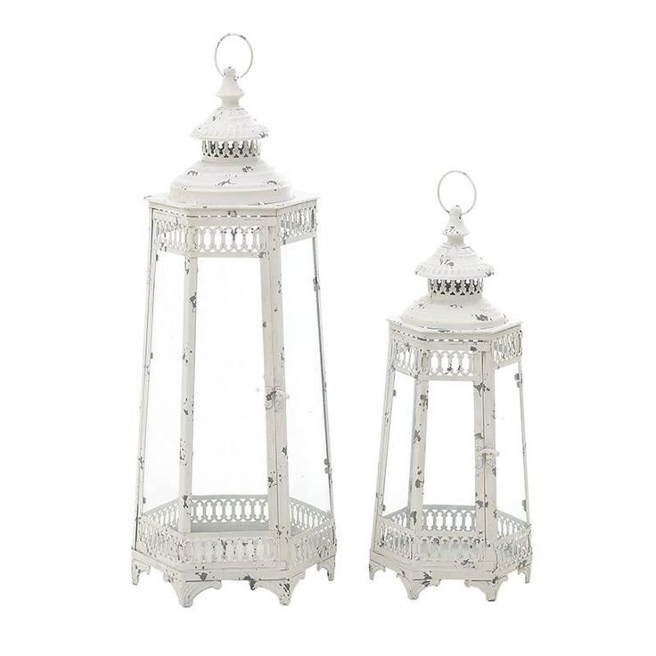 Metallic Lantern Set Of 2 Pieces - Lanterns - DECORATIONS - inart
