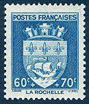 Armoiries de La Rochelle Armoiries des villes de France (Deuxième série) - Timbre de 1942