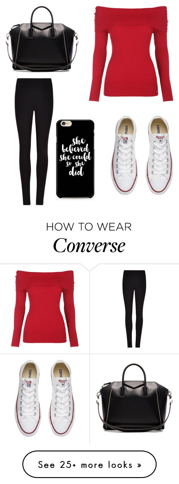 """Untitled #8786"" by ohnadine on Polyvore featuring Winser London, Givenchy and Converse"