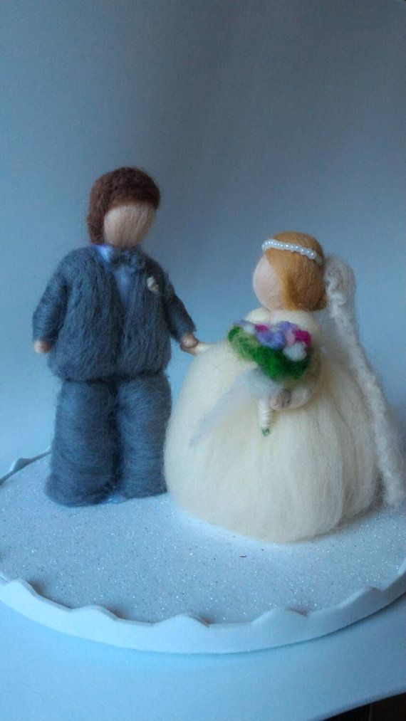 FOREVER TOGETHER wool fairy cake topper
