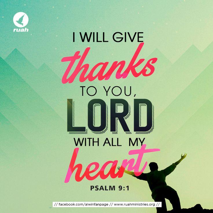 Psalm 9:1 #dailybreath #bibleverse #ruahministries #ruahchurch #thanks #thankGod #jesus #thankyoujesus