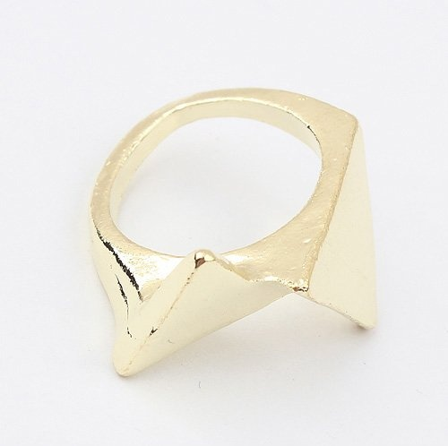 (Min order$10) Free shipping!Europe and the United States exaggerated Metal Fashion triangle ring (gold)!#91974 on AliExpress.com. $0.60