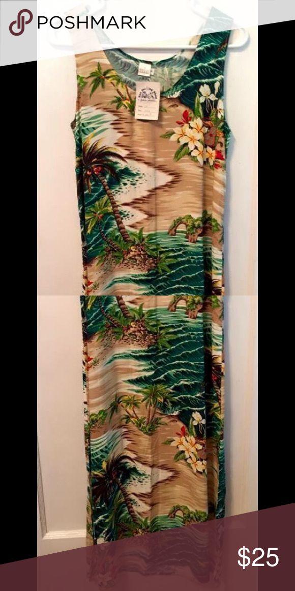 Tozzi Hawaiian themed dress size 1, NWT Tozzi Hawaiian themed dress size 1, NWT. Perfect for summer! Purchased in boutique, originally $100. tozzi Dresses Maxi