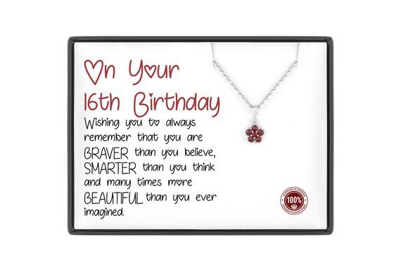 Sweet 16 Gift 16th Birthday For Daughter Girl Sixteen Niece Bday
