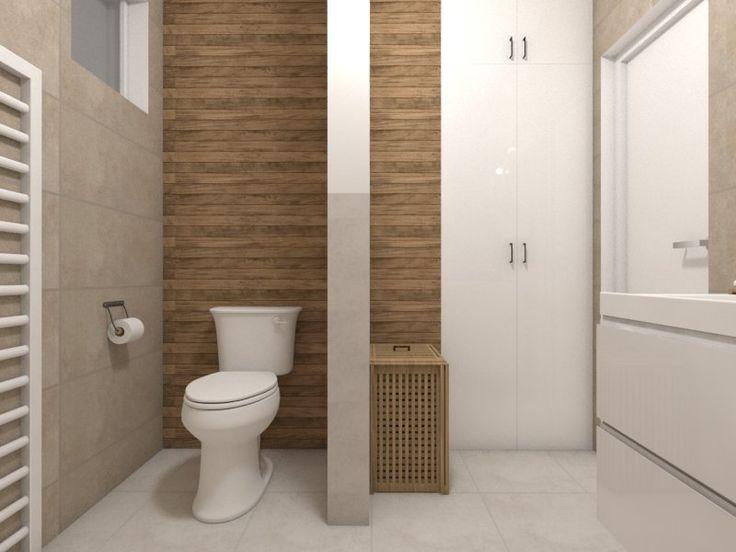 Kúpeľňa s toaletou a deliacou priečkou