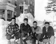 Kennedy, in front of Smith Hall, during Winter Carnival at Bates College in Lewiston.