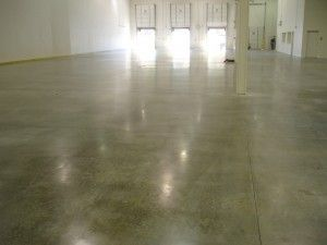 Polished Cement floor...ha, like a skate park, you would slip all over!