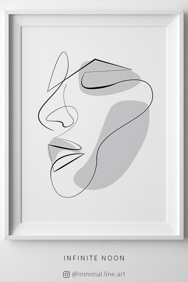 Abstract Face Line Printable Art, One Line Drawing Illustration, Fashion Abstract Sketch, Beauty Continuous Line Artwork, Face Figure Art – Michel Thiry