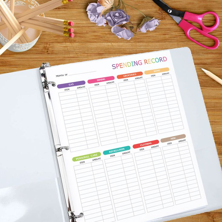 Spending Record - Printable Spending Tracker - Budgeting Expense Log, Spending Tracker, Money Management Printable 8.5 x 11 inches by PrintablePossibility on Etsy https://www.etsy.com/ca/listing/295032467/spending-record-printable-spending
