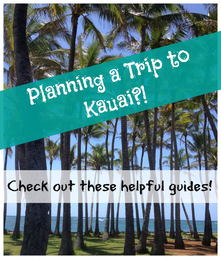 If you're planning a trip to Kauai... be sure to check out these helpful guides! #Kauai #Hawaii #Paradise