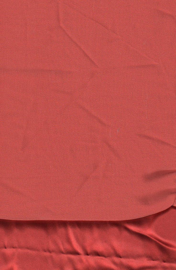 BIN 4 Silk chamuese 0.60 m x 112 cm & silk chiffon to match, terracotta to burnt orange