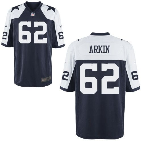 Men Nike Dallas Cowboys David Arkin Game 62 Navy Blue Throwback Jersey for Sale Sale