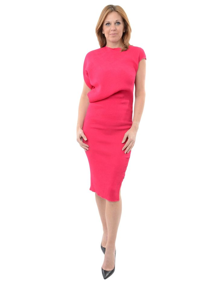 Kevan Jon Fuchsia Valentina Knee Dress | Accent Clothing