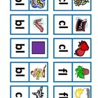 This is a domino matching activity that focuses on six initial L blends: bl, cl, fl, gl, pl, sl and six initial triple clusters: thr, scr, squ, str...