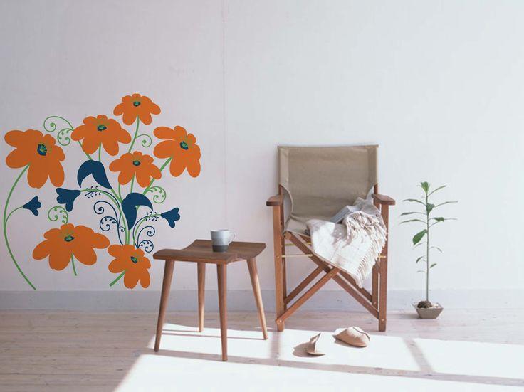 Sticker Floral Composition