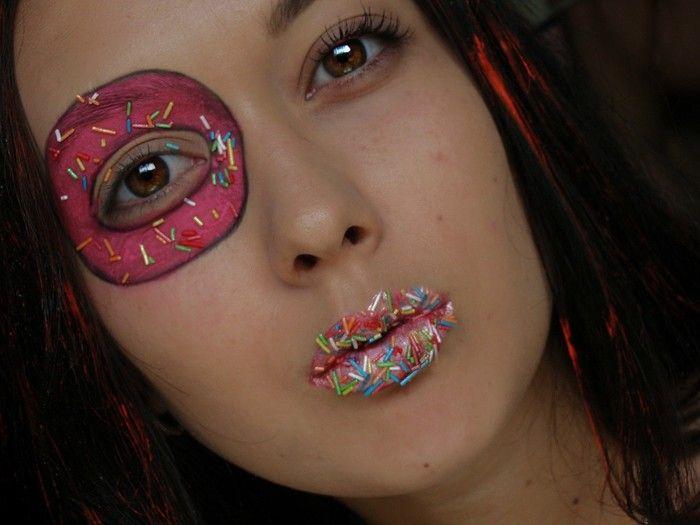 необычный макияж, face art, простой, креативный, макияж на хэллоуин, фейс арт детский