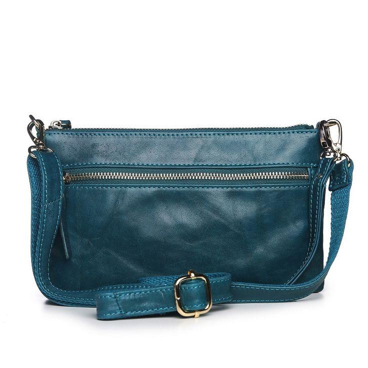 Vicenzo Maci Distressed Crossbody/Clutch Handbag