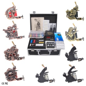 Professional Tattoo Machine Kits with 9 Guns LCD Power