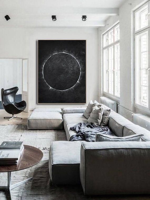 Large Abstract Painting On Canvas Verticcal Abstract Art Etsy Contempora Modern Minimalist Living Room Minimalist Living Room Minimalist Living Room Design
