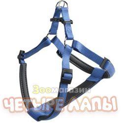 Шлейка для собак Ферпласт Дейтона медиум синий 15мм