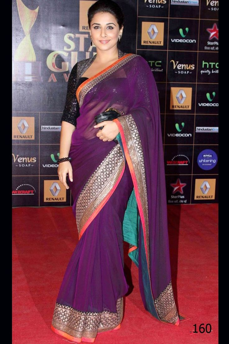 Beautiful #VidhyaBalan pink bollywood style #saree shop with #craftshopsindia