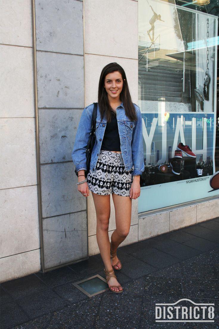 Brooke. District - BONDI JUNCTION, Sydney. Top - Lee, Jacket - Levi's http://district8.com/store/levis-uk Pants - Alice In The Eve, Sandals - Shoeba, Bag - Colette http://district8.com/store/colette-by-colette-hayman #Street #Style #Fashion #Woman