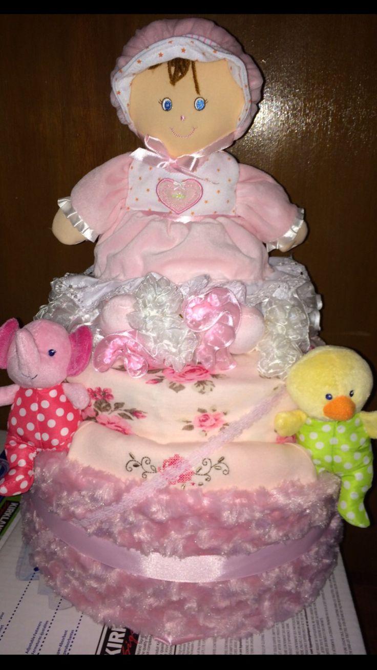 Diaper cake for girls~baby shower