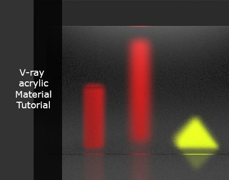 Tutorial for Vray acrylic material Click to Learn: http://www.proarch3d.com/tutorial-for-v-ray-acrylic-material/