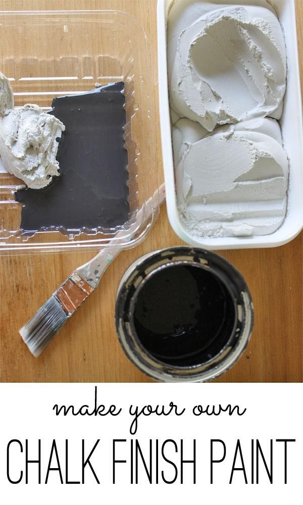 Here's an easy way to make chalk finish paint! #DIY