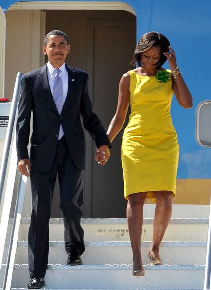 Michelle Obama Photo - President Obama & Family Arriving In Rome For G8