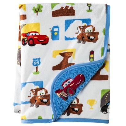 Disney Cars Junior Junction Velour Sherpa Blanket