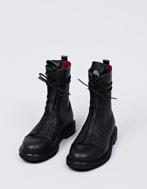 Stone Island Diemme High Leather Boot in Black
