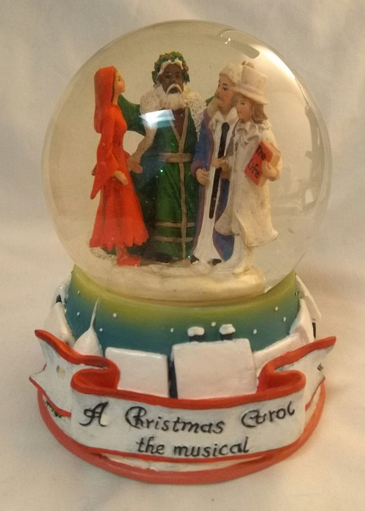 Radio City A Christmas Carol The Musical Snow Mini Globe Scrooge 3 Ghosts MSG