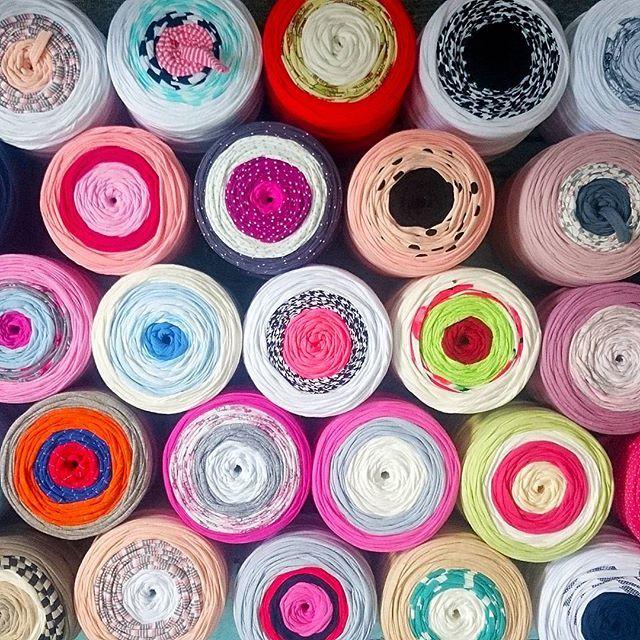 Rainbows  #bobbiny #premium #tshirtyarn #colorful #jerseyyarn #yarn #crochet #knit #rainbow homedecor #jerseyyarn #handmade #craft #rekodzielo #szydelko #sznurek #tęcza #biżuteria #wloczka #madeinpoland #madewithlove