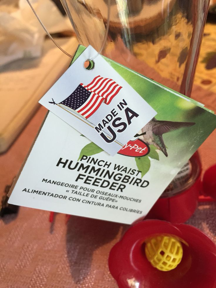 Hummingbird feeder. From Lowe's store. Made in USA