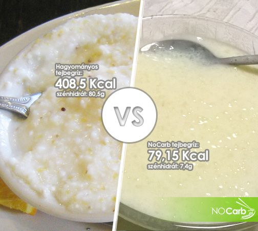 Hagyományos tejbegríz VS NoCarb tejbegríz | Klikk a képre a receptért: recept a hozzászólásokban!