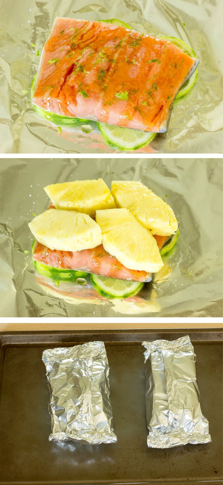 Pineapple Salmon Foil Packs -