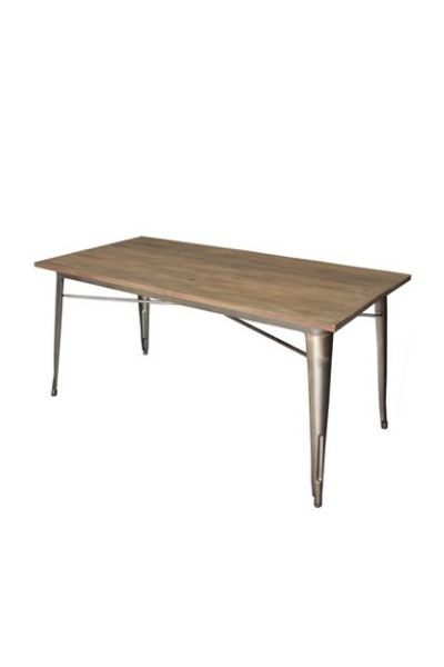 Powder coated steel, timber top finish. Available in Rust with wood top. http://www.chaircrazy.co.za #Tables #SouthAfrica #Decor